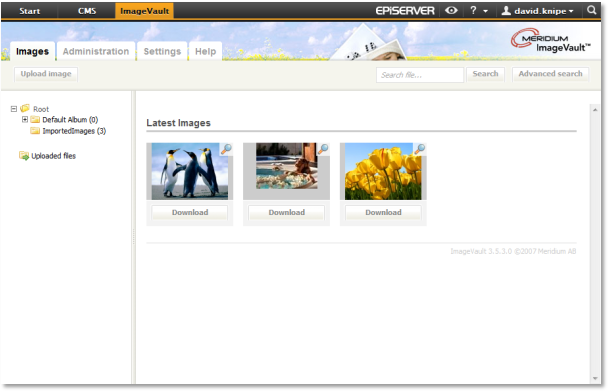 ImageVault integrated into EPiServer OnlineCenter
