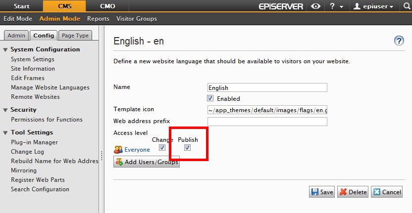 Granular Language security in EPiServer using ...