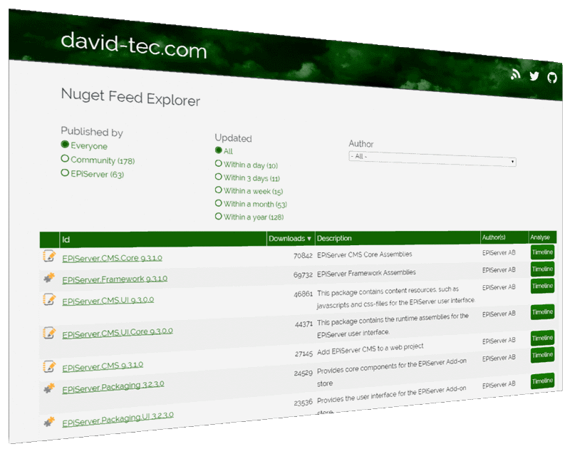 Episerver Nuget Package Explorer