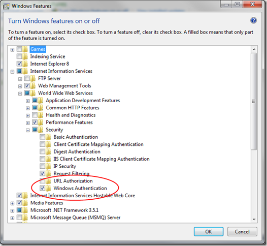 Checklist for setting up Windows Authentication in EPiServer on a